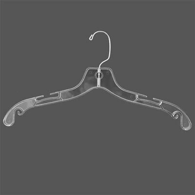 100 x Plastic Shirt Hangers / Clear Clothing Hangers Adult