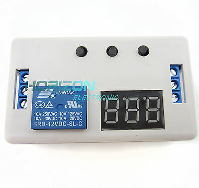 LED Delay Timer Control Switch Relay Module Automation 12V + case