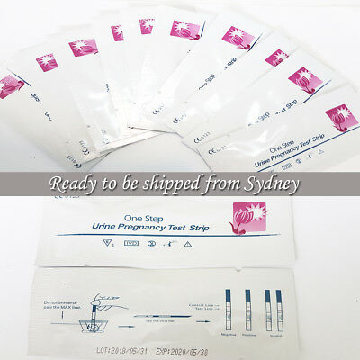 10x EARLY PREGNANCY TESTS hCG SENSITIVE URINE STRIPS FERTILITY HPT KITS