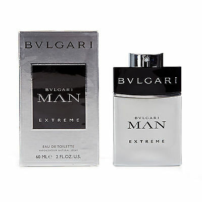 Bvlgari Man Extreme 60ml Mens Eau De Toilette Spray | Brand New In Sealed Box