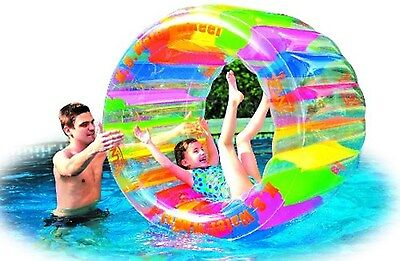 Water Wheel Giant Inflatable Swimming Pool Toy Summer Beach Floating Ride On New