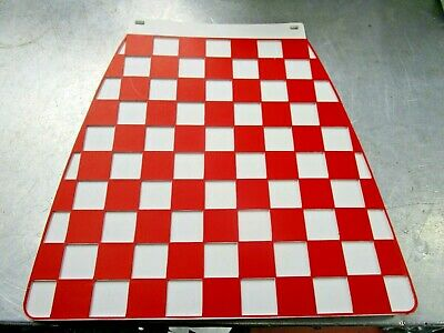 VESPA PX 125 GENUINE CHECKERED CHECKED MUD FLAP MUDFLAP QUALITY  red/white