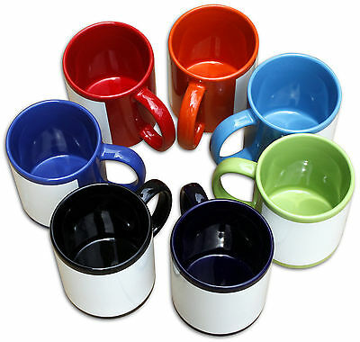 36 x FULL COLOUR 11oz Sublimation Mugs Heat Press Transfer Print Custom Design