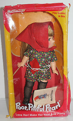 Vtg 1963 Poor Pitiful Pearl Doll Original Box Book Clothing Horsman Montgomery