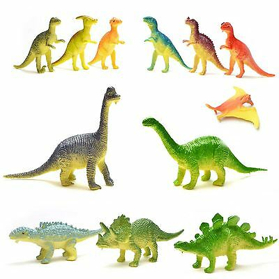 12pcs Dinosaur Figures Party Bag Fillers Pinata Favour Gift Educations Toy