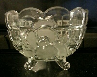 Crystal Footed Candy/Snack Dish