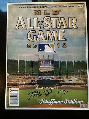 2012 Asg Signed & Inscribed -Mike Trout 1St Asg-Mlb Holo -Rare Program Roy Year