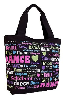 New Black Dance International Tote Bag by DansBagz