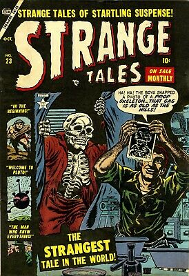 Strange Tales 23 Comic Book Cover Art Giclee Reproduction on Canvas