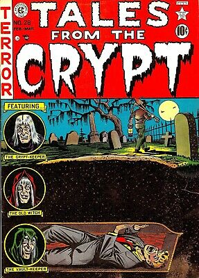 Tales From the Crypt 28 Comic Book Cover Art Giclee Reproduction on Canvas