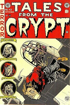 Tales From the Crypt 43 Comic Book Cover Art Giclee Reproduction on Canvas