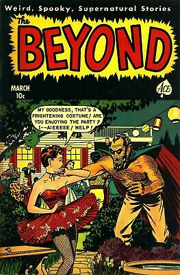 The Beyond 09 Comic Book Cover Art Giclee Reproduction on Canvas