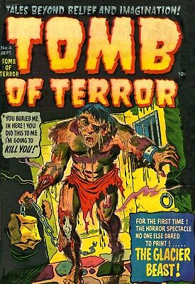 Tomb of Terror 04 Comic Book Cover Art Giclee Reproduction on Canvas