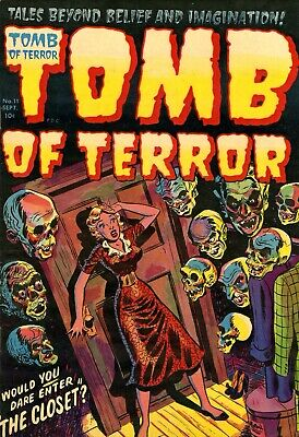 Tomb of Terror 11 Comic Book Cover Art Giclee Reproduction on Canvas