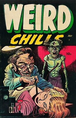 Weird Chills 01 Comic Book Cover Art Giclee Reproduction on Canvas