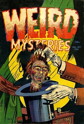 Weird Mysteries 06 Comic Book Cover Art Giclee Reproduction on Canvas