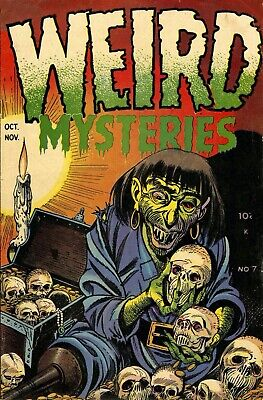 Weird Mysteries 07 Comic Book Cover Art Giclee Reproduction on Canvas