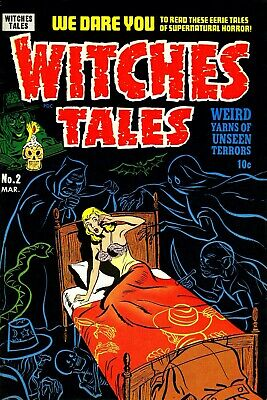 Witches Tales 02 Comic Book Cover Art Giclee Reproduction on Canvas