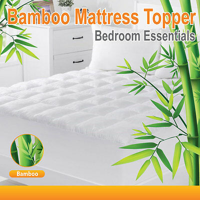 ALL SIZE-  1000GSM-Luxury Bamboo Ball Fibre Pillowtop Mattress Topper/Protector