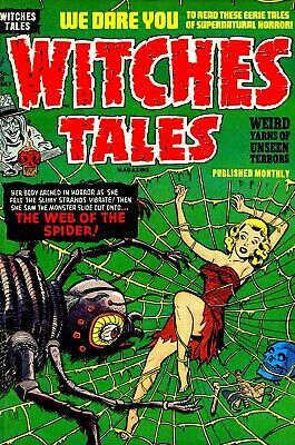 Witches Tales 12 Comic Book Cover Art Giclee Reproduction on Canvas
