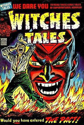 Witches Tales 19 Comic Book Cover Art Giclee Reproduction on Canvas