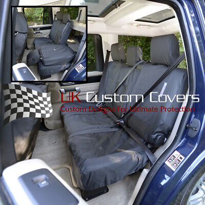 Land Rover Discovery 4 - Tailored & Waterproof Rear Seat Covers - Black 157