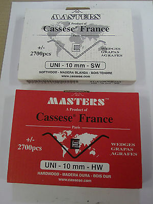 Cassese XS UNI wedges 2700 p/box soft/hard wood various sizes
