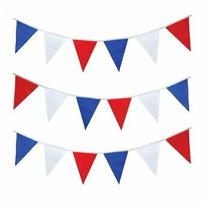 Red White and Blue Bunting 30 Flags 9metre