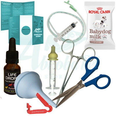 Abnoba's Lifesafer Puppy Whelping Kit Royal Canin Milk, Nurser Life Drops Clamp