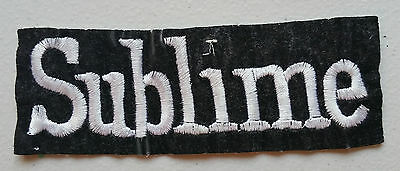 90's SUBLIME Embroidered Patch