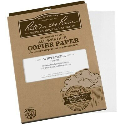"""Rite in the Rain 8511 All-Weather Copier Paper, 8.5"""" x 11"""" - 200 Sheets"""