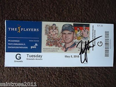 2015 British Open ZACK JOHNSON Signed Players Ticket 2015 President Cup FedEx