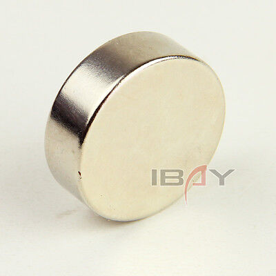 1 Large Super Strong Magnet Disc 30mm x 10mm Cylider Rare Earth Neodymium N35