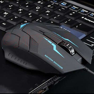 Practical USB Wired X5 3D Optical Gaming Game Mouse Mice 1600 DPI For Laptop PC