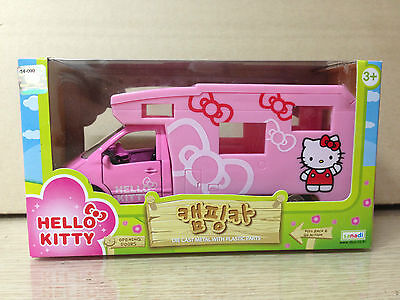 Korea Only Hello Kitty Camping Car Diecast Camper Trailer Figure Model Toy Japan