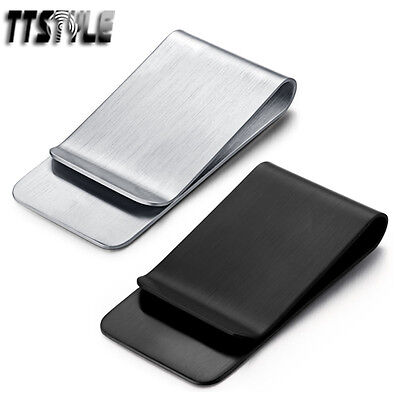 High Quality TTstyle THICK Brushed Stainless Steel Money Clip NEW