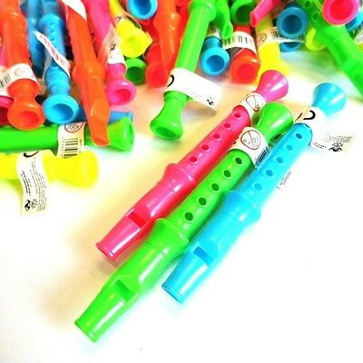 12 x MINI FLUTES WHISTLE RECORDER TOY BOYS GIRLS LOOT BRITHDAY PARTY BAG FILLERS
