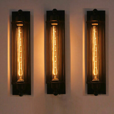 Modern Corridor Vintage Retro Industrial Black Ceiling Wall Light Lamp Fittingv