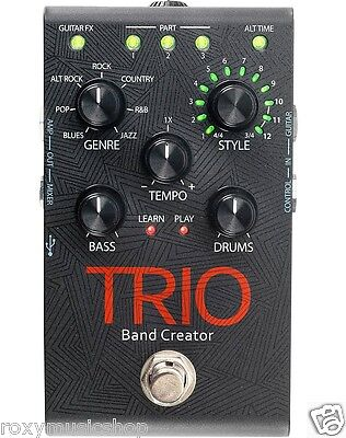 New DigiTech TRIO Band Creator Guitar Effects Pedal