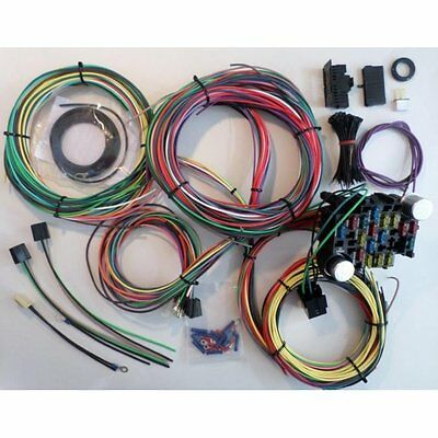COMPLETE NOSE TO TAIL GM WIRING HARNESS 12v fuse panel ignition headlight switch