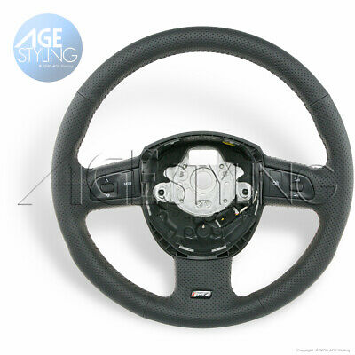 Audi RS4 B7 Perforated Leather Steering Wheel multimedia controls 8E0419091EC8UD