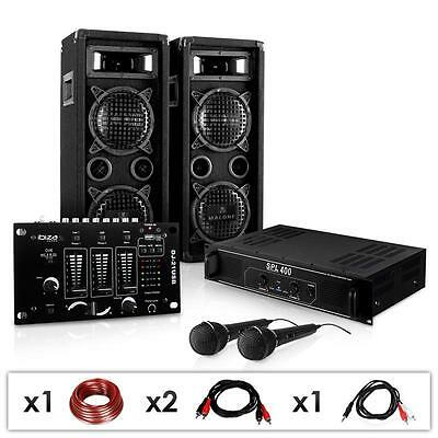 1500W Disco Stage Pa Amp Dj Mixer Floorstanding Speakers *free P&p Special Offer