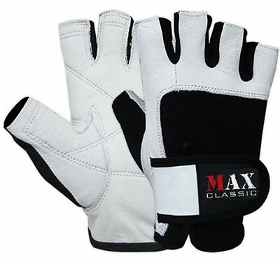 Leather Weight Lifting Gloves Body Building Fitness Gym Training Wrist Support
