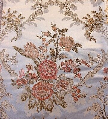 "Antique 19thC French Victorian Silk Fabric~Gorgeous Lyon Quality~26""LX23""W"