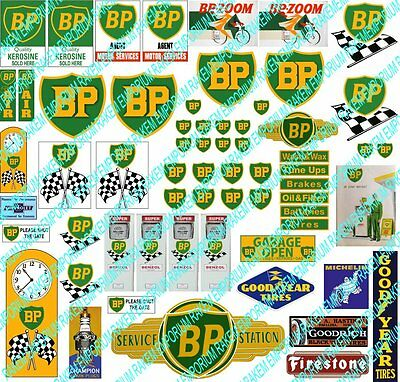 HO Scale BP + Other Garage Signs Model Railway Signs - HOBP1