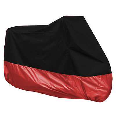 Winter Waterproof Rain Cover Motorcycle Motorbike Scooter Extra Large Black Red