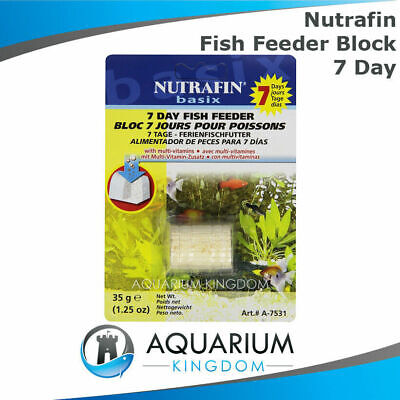 Nutrafin 7 Day Fish Feeder Block 35g - Weekend Holiday Vacation Food Aquarium