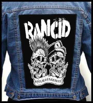 RANCID - Hooligans United    --- Giant Backpatch Back Patch