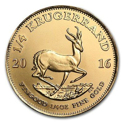 Pièce or Krugerrand 1/4 once Afrique du Sud 1/4 oz Gold coin South Africa