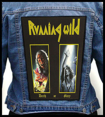 RUNNING WILD - Death Or Glory    --- Giant Backpatch Back Patch